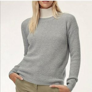 100% Wool Wilfred Free VEUC Grey Isabelli Sweater